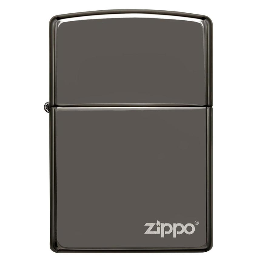 Zippo Windproof Lighter Black Ice Finish w/Zippo LogoClassic Case