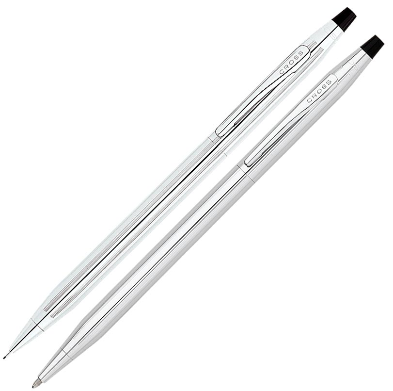 Cross Classic Century Lustrous Chrome Pen and Pencil Set