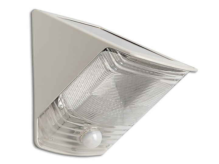 Maxsa SOLAR-POWERED MOTION-ACTIVATED WEDGE LIGHT - OFF-WHITE