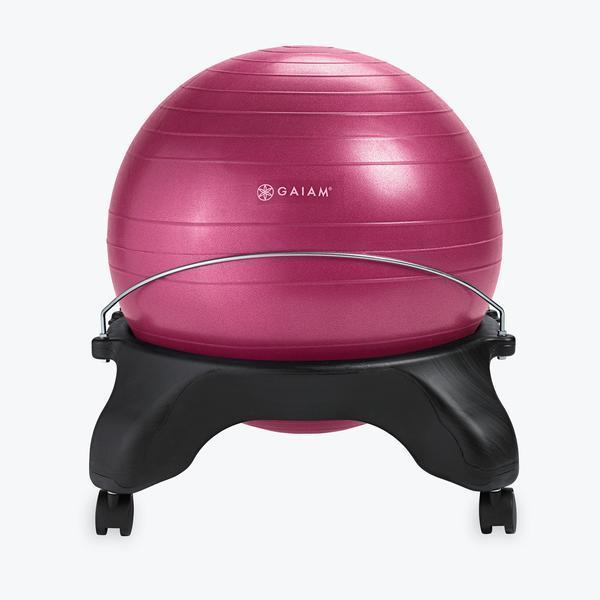 Gaiam Backless Balance Ball Chair Fuchsia
