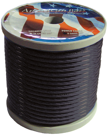 WIRE AMERICAN BASS 8 GA SMOKE COLOR 100FT ROLL *AB655(R)*
