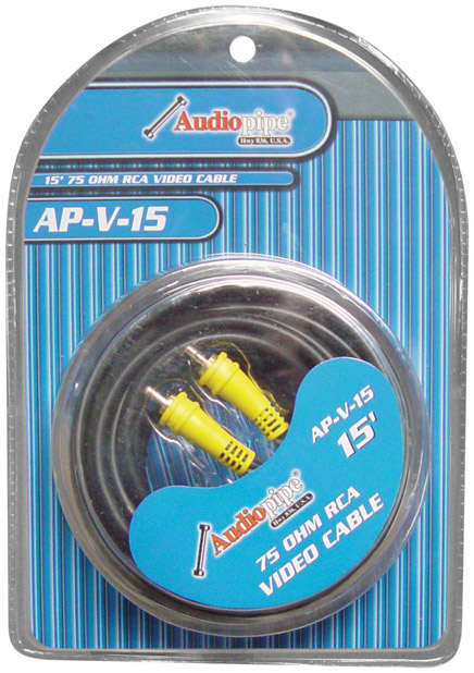 Audiopipe 15' 75 Ohm RCA Video Cable