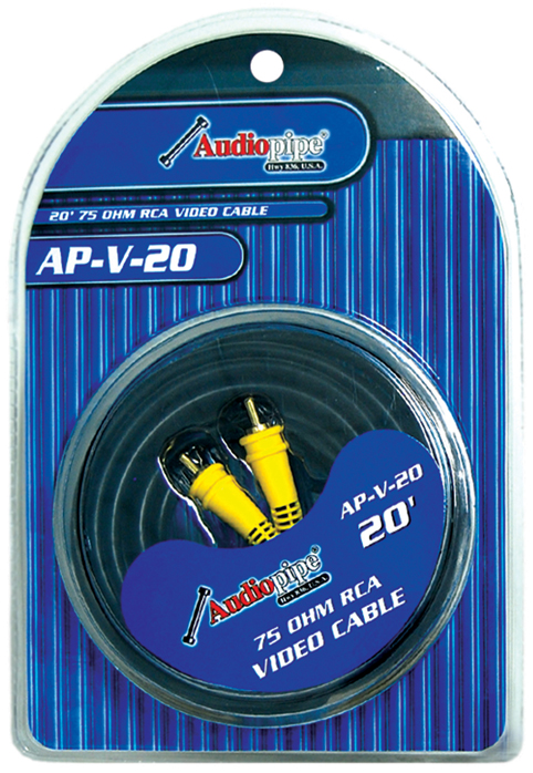 Audiopipe 20' 75 Ohm RCA Video cable