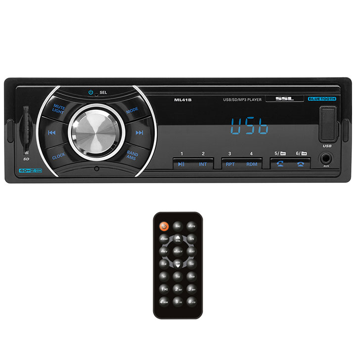 Soundstorm Single Din Indash Mechless Receiver-Fixed Face