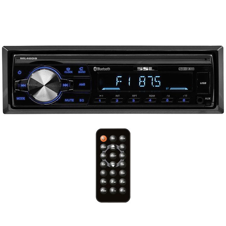 Soundstorm Single Din Digital Media Receiver BT AM/FM USB/SD Remote