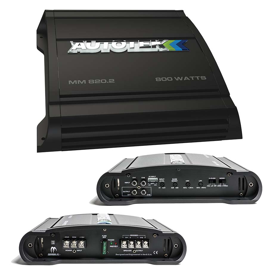 Autotek Mean Machine 2 X 200 @ 4 Ohms 2 X 400 @ 2 Ohms 1 X 800 WATTS @ 4 Ohms Bridged