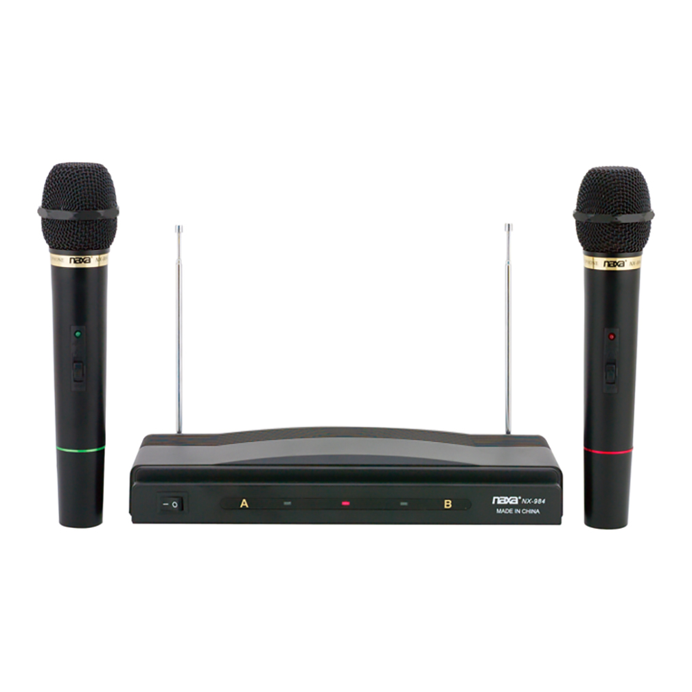 Naxa 2 Wireless Microphone Setup