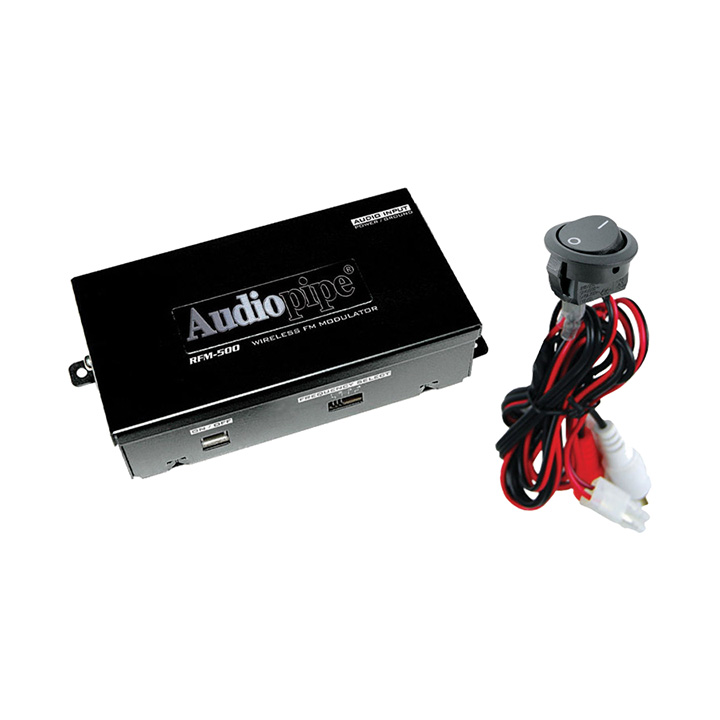 WIRELESS FM MODULATOR AUDIOPIPE 2 CH. ON/OFF SWITCH;ADJ.OUTPUT LEVEL
