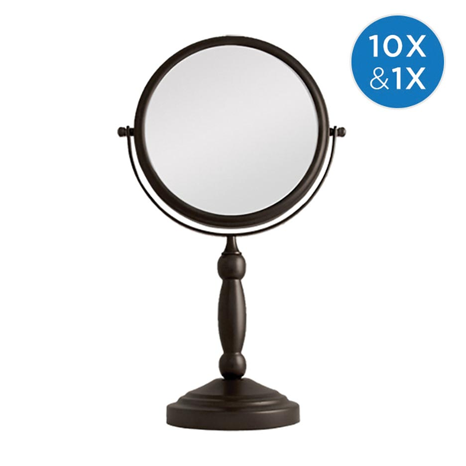 ZADRO TWO-SIDED SWIVEL MIRROR 1X & 10X MAG. OIL-RUBBED BRONZE