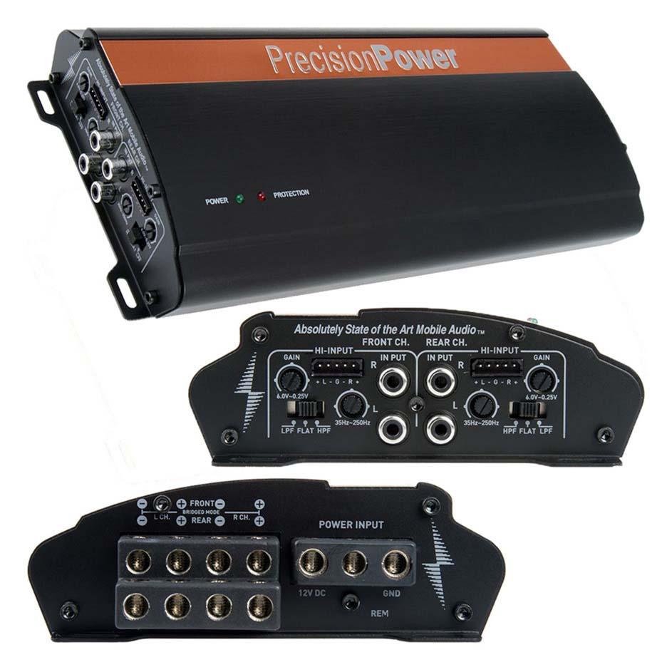 Precision Power amplifier 4 channel 2000 Watts Max
