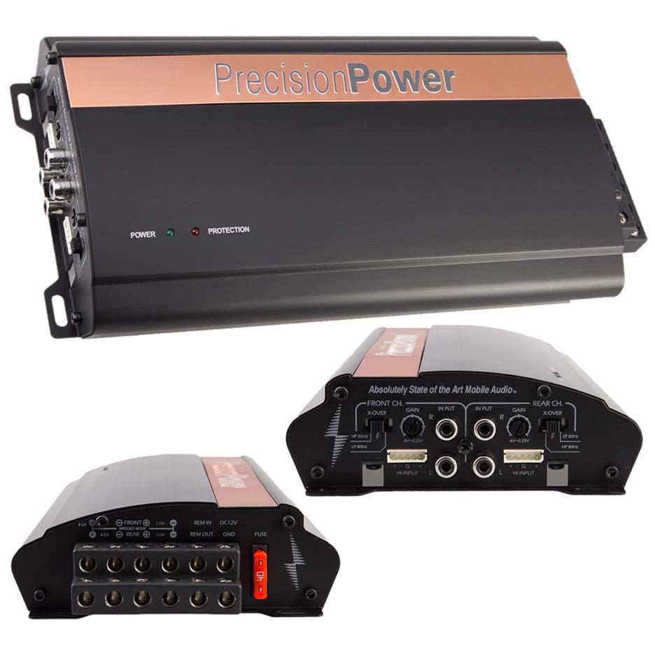 Precision Power 4CH Amplifier 520W RMS