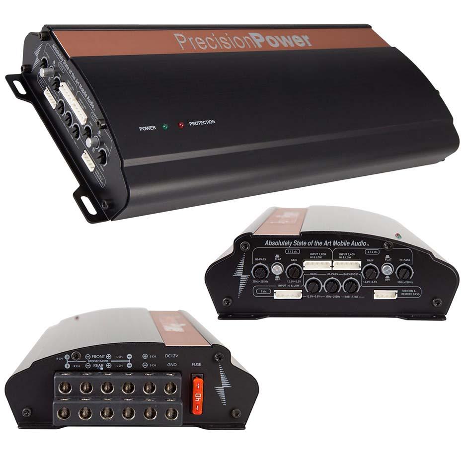 Precision Power 5CH Class D Amplifier 640W RMS
